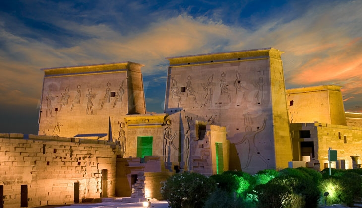 Philae sound and light show