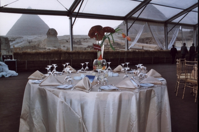 breakfast at the pyramids