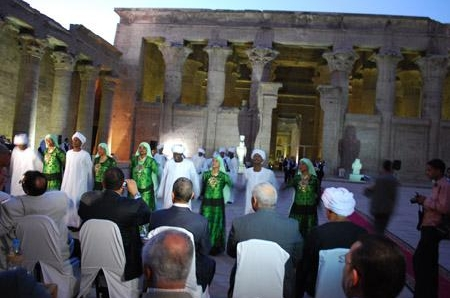 Misr Company for Sound and Light inaugurated the modernest project at Horus Temple (Edfu Temple)  (2010-07-08 )